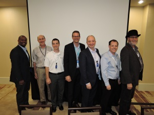 AppSec Discussion Panelists (left to right): Kevin Greene (DHS S&T), Bart Miller (SWAMP/UW-Madison), Ken Prole (CodeDx), Chris Wysopal (Veracode), Ralf Huuck (Red Lizard), Mark Zarins (GrammaTech), Arthur Hicken (Parasoft)