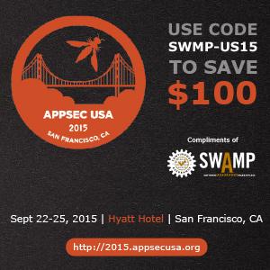 AppSec USA 2015 discount code